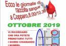 AVIS COPPARO – PRESENTATO IL CALENDARIO PER LE DONAZIONI NEL MESE DI OTTOBRE 2019