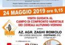 COLOGNA, SI APRE L'OPEN DAY CAMPI DI CONFRONTO VARIETALE DEI CEREALI – VENERDI' 24 MAGGIO 2019 –