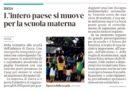 Zocca – L'intero paese si muove per la scuola materna – Un articolo de La Nuova Ferrara