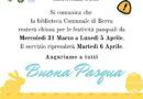 BERRA – LA BIBLIOTECA COMUNALE CHIUDE PER LE FESTIVITA' PASQUALI – DAL 31 MARZO AL 5 APRILE 2021