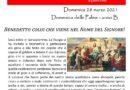 FOGLIO DI COLLEGAMENTO – PARROCCHIE DI BERRA E COLOGNA – DOMENICA 28 MARZO 2021