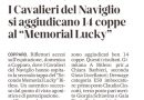 """COPPARO – EQUITAZIONE – I CAVALIERI DEL NAVIGLIO SI AGGIUDICANO 14 COPPE AL """"MEMORIAL LUCKY"""" – La Nuova Ferrara 7.9.21"""