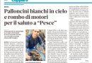 """BERRA – Palloncini bianchi in cielo e rombo di motori per il saluto a """"Pesce"""" – La Nuova Ferrara 19.9.21"""