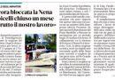 Ancora bloccata la Nena – Boicelli chiuso un mese – distrutto il nostro lavoro – La Nuova Ferrara 8.9.21